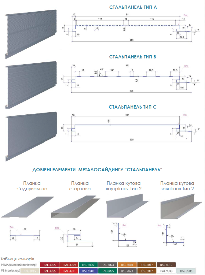 metalosayding-stalpanel